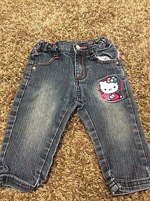 HELLO KITTY toddler girls embroidered jeans size 3t