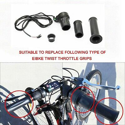 Electric Bicycle Twist Throttle Grip E Bike 24v 36v 48v Battery 3Pin Wiring Loom