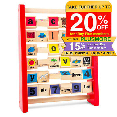 Children Wooden Abacus Learning Alphabet/Numbers Educational Kids Toy ABC/123