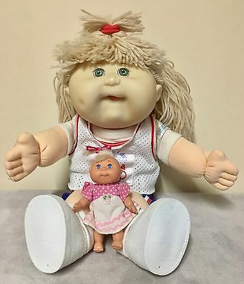Very Cute Mattel's OlympiKids 1996 Cabbage Patch Doll with Bonus Mini CPK.