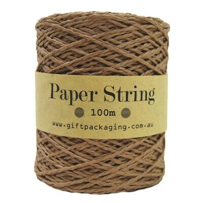 Kraft Paper Twine String - 2mm x 100m Metres Bulk Roll - Gift Wrapping Packaging