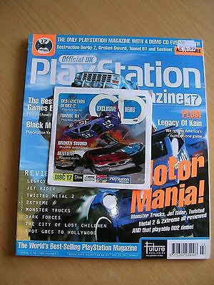 Official UK Playstation Magazine issue 17 and demo disc PS1