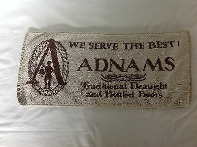 We Serve The Best Adnams Traditional Draught and Bottled Beers Bar Towel