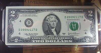 2009 $ 2 Note  ( Cleveland ) $ 2 Note Mint  Condition Very Rare Perfect For Grad