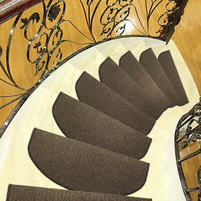 "9 x26"" Stair Tread European Classical Style Mats Non-slip Stair Carpet Step Rugs"