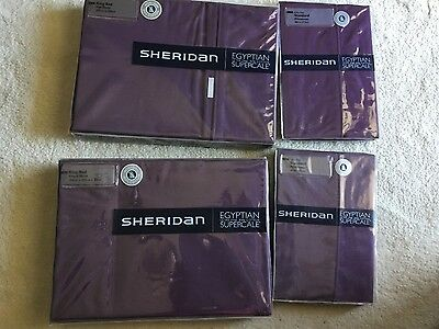 sheridan sheets- supercale. Purple RRP $369.95 + $49.95 for xtra set pillowcases