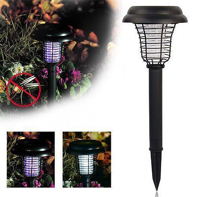 Yard Solar Powered LED Light Mosquito Bug Zapper Insect Killer Lamp Garden Lawn