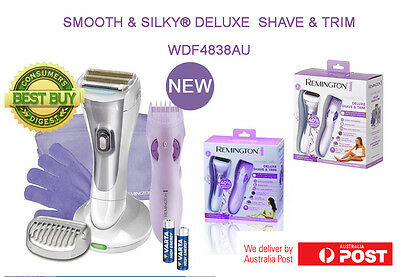 New Remington WDF4838AU 2in1 Ladies Shaver Smooth & Silky® Deluxe  Shave & Trim