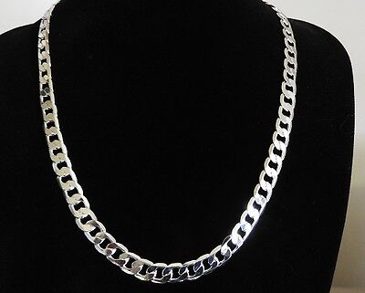 925 Sterling Silver Mens Chain Necklace 12mm