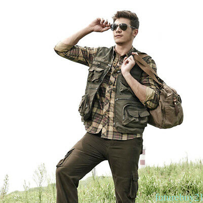 Camouflage Waistcoat Vest Jacket Coat For Outdoor Sport Hunting Fishing Camping