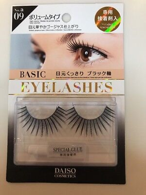 Daiso Eyelashes W/ Glue (new) No. a 09