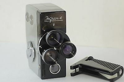 EKRAN 4 Russian Movie 2x8 camera 1970 USSR Rare 3x lens Soviet И680987