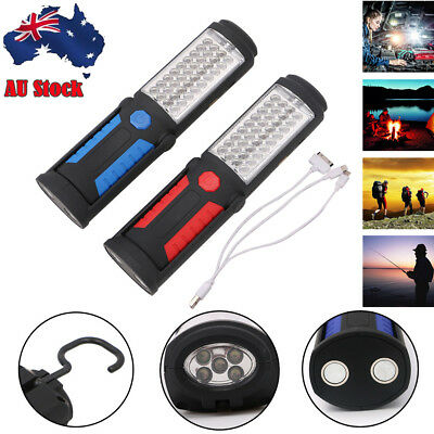 41LED Tent Work Light Rechargeable Camping Flashlight Inspection Lamp Powerbank