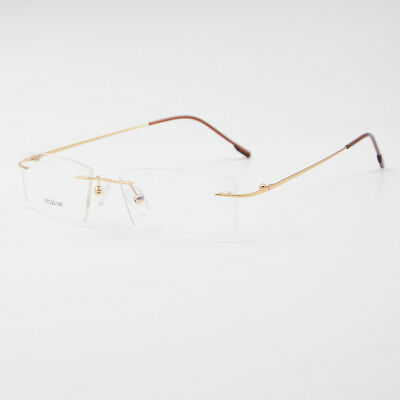 US Stock New Mens Flexible Titanium Alloy Eyeglasses Frame Rimless Glasses Frame