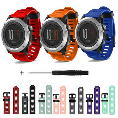 Soft Silicone Band Strap Replacement Watch Band + Tools Kit For Garmin Fenix 3