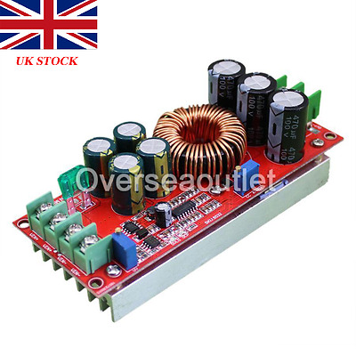 1200W 20A DC Converter Boost Step-up Power Step up Module 8-60V to 8-83V UK
