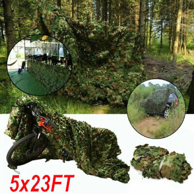 5x23FT Woodland leaves Camouflage Camo Army Net Netting Camping Military Hunting