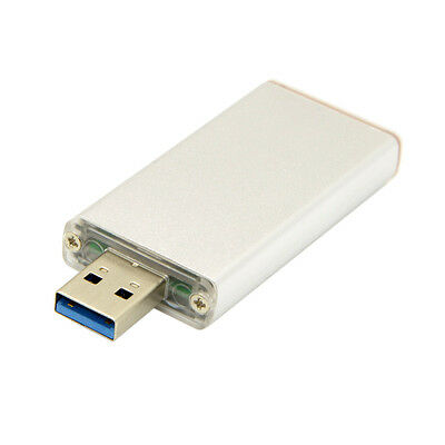 42mm NGFF M2 2 Lane SSD to USB 3.0 External PCBA Conveter Adapter Silver Case