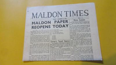 1978 Friday December the 22nd. Maldon Times Tarrangower Times  Newspapers