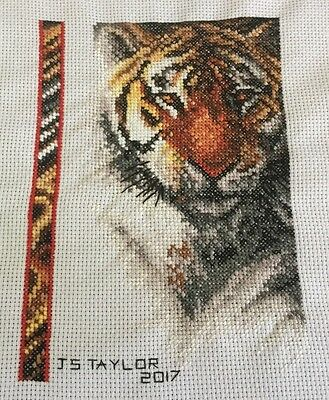 Tiger Completed Cross Stitch