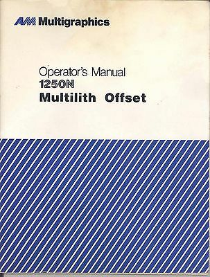 AB Dick Multi Multilith 1250N operator manual (015)