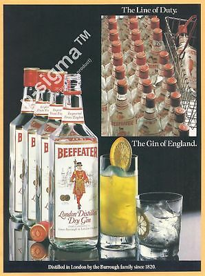 BEEFEATER The Gin of England-1983 Vintage Print Ad