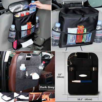 Car Auto Seat Back Protector Multi-Pocket Storage Organize Bag Children Kick KY
