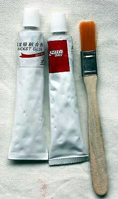 DHS TENNIS GLUE w/ brush, 2x 20ml, NEW, Melbourne