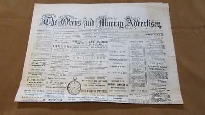 Repro. Ned Kelly Newspaper of 1880  Wed. July14th. Beechworth The Ovens & Murray