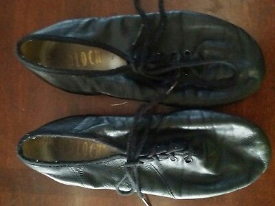 BLOCH Soft Leather Splitsole Jazz Shoes Lace up Black Girls Dance Size 1.5
