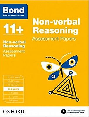 Bond 11+: Non-verbal Reasoning Assessment Papers [8-9 Years] NEW