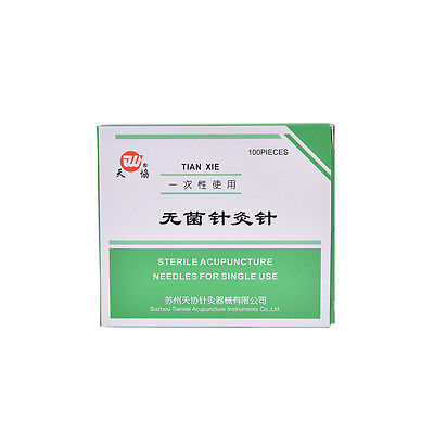 1Pk 100 Authentic Acupuncture Needles  25mm x0.25mm NEW 8Kz