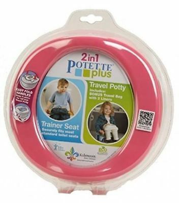 Kalencom 2-in-1 Potette Plus Pink - Portable potty and trainer seat all in one
