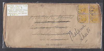 1906 W.a. Cover Saved From The Ashes??? With Scarce Broken Hill Railway Town ...