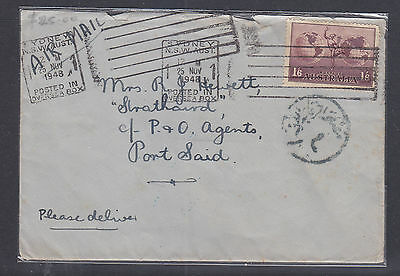 1948 Air Mail Cover  Sydney  To Post Said.