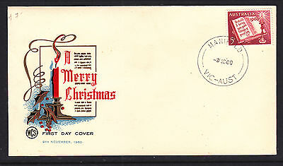 FDC:  1960  5d  CHRISTMAS WCS FDC  UNADDRESSED  CANCELLED AT MANIFOLD