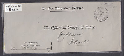 1897 Cover,  Police Department, Inspector General's Office, Sydney