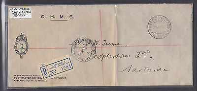 1940 Money Order Cover South Australia Great Cancel!!!