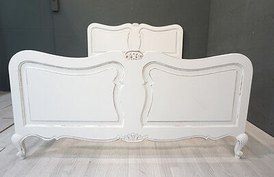 Vintage French King Bedn / Shabby style French Bed (BR371)