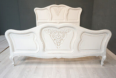 Standard Double French Bed / Shabby style French Bed (BR367)