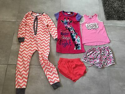 EUC Girls Cloth 5pc Bundle Pyjama One Piece Dress Size 8