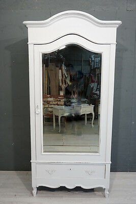 Painted 1 Door Antique French Wardrobe / French Armoire / Shabby style (BR348)