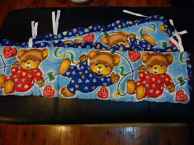 Teddy Bears Cot Bumper