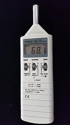 Extech 407736 DIGITAL SOUND LEVEL METER IN EXCELLENT CONDITION