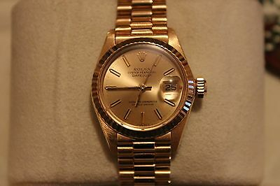 Rolex Oyster Perpetual Datejust 18ct Yellow Gold Ladies Watch