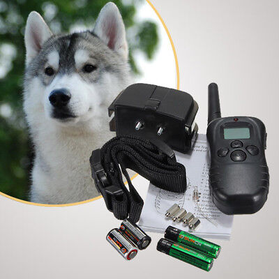 300M Waterproof LCD 100LV Level Shock Vibra Remote 1/2 Pet Dogs Training Collar