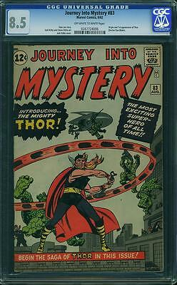 Journey Into Mystery 83  CGC 8.5  1st Thor  ow/w pages!