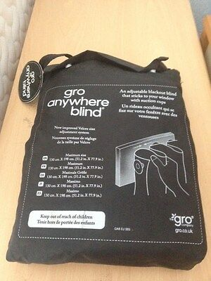 Gro anywhere blind Mothercare price £25 adjustable blackout NEW with tags in bag