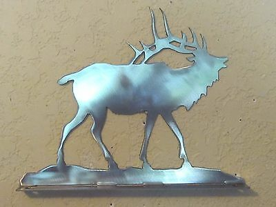 Elk Mailbox Topper (No Name) Steel Raw Metal Finish