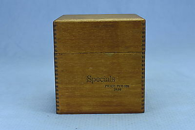 Vintage WOOD DOVETAILED WOODEN SPECIALS CIGAR SHIPPING BOX FACTORY #16 DIST FLA